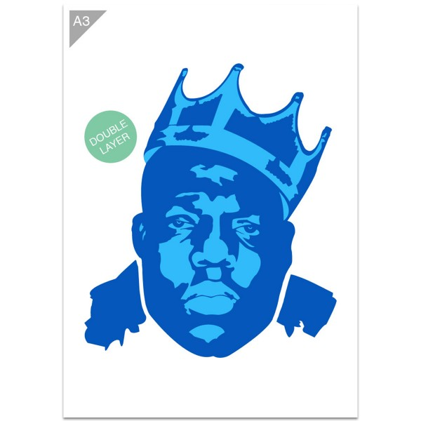 "Plastikschablone ""Idol #1 - Notorious B.I.G."" (Double Layer) A3"