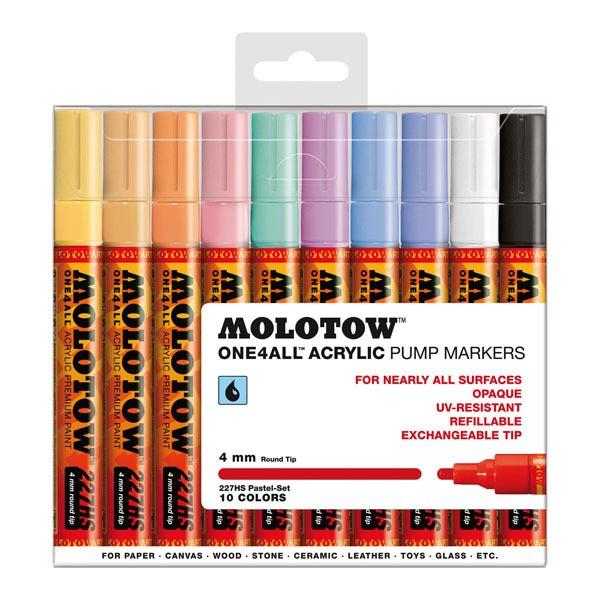 "Molotow ""227HS"" One4all Marker 10er Set (4mm) - Pastel"