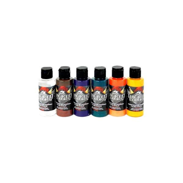 "Createx ""Wicked Colors - W104 2oz - Secondary Set"" (6x60ml)"