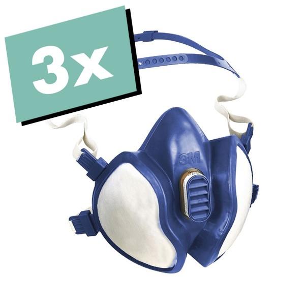 "3M Atemschutzmaske ""4251 (A1P2D)"" 3er Set"