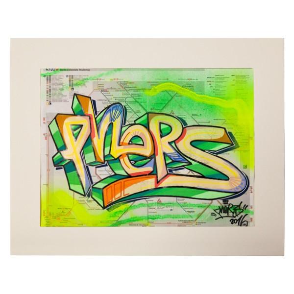 """Phers - Skizze XIX (Original & in Passepartout)"" 40x50cm"