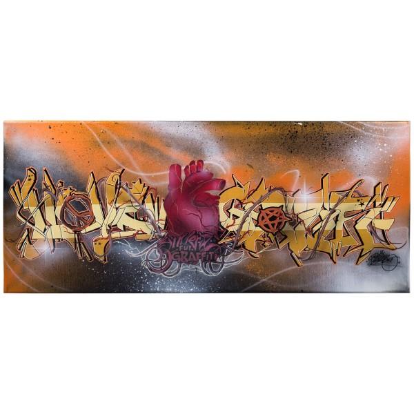 """""""Riel - I Love Graffiti (Original)"""" 30x70cm"""