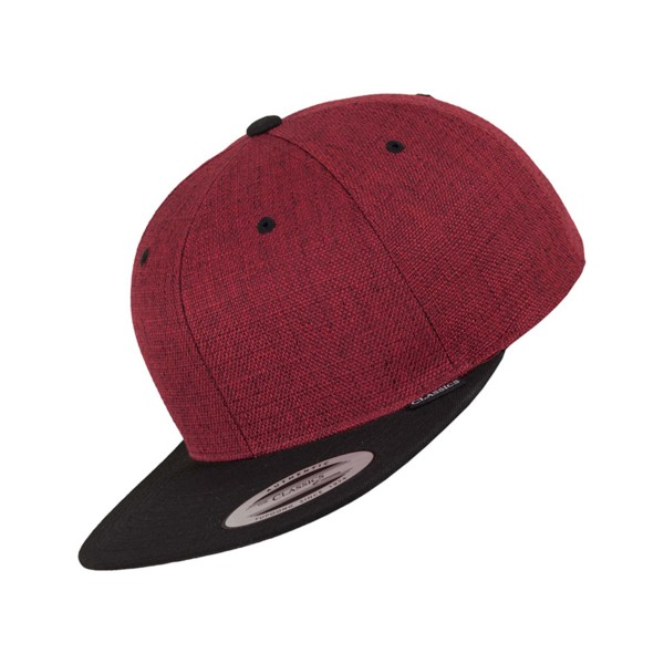 "Flexfit ""Classic Two Tones Snapback Cap"" Heather Red/Black"