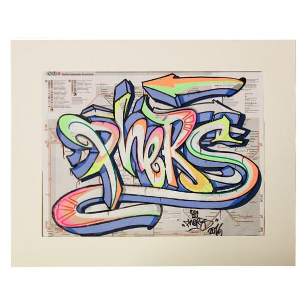 """""""Phers - Skizze VI (Original & in Passepartout)"""" 40x50cm"""