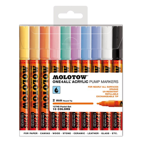 "Molotow ""127HS"" One4all 10er Marker Set (2mm) - Pastel"