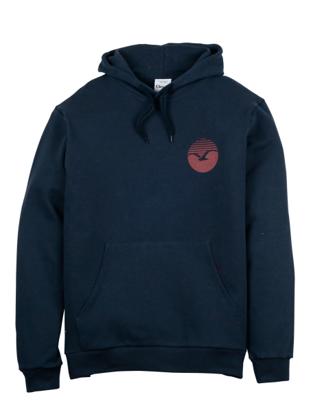 "Cleptomanicx Hoodie ""Flamed"" Dark Navy"