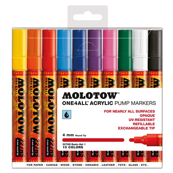 "Molotow ""227HS"" One4all 10er Marker Set (4mm) - Basic 1"