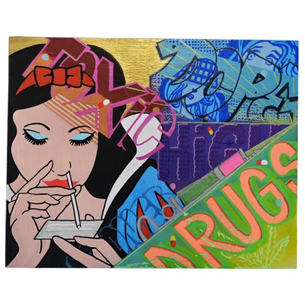 """""""Pop-I & Serie - Drugs (Original)"""" 24x30cm"""