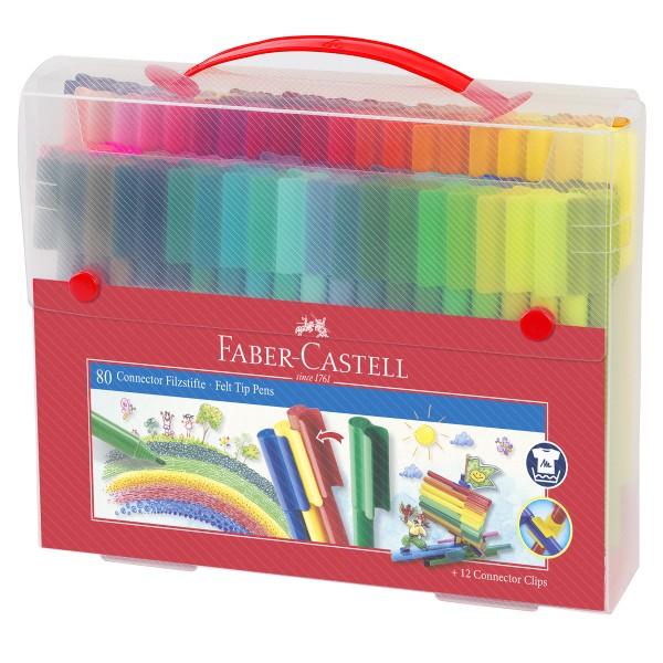 """Faber-Castell """"Filzstift Connector"""" Box 80-teilig"""