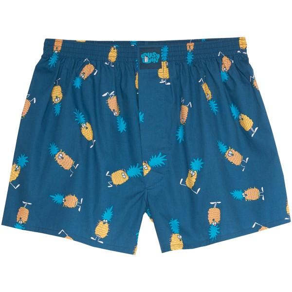 "Lousy Livin Boxershorts ""Ananas"" Blue Dive"