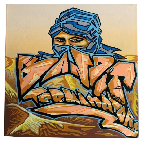 """Bandit 77 - The Beduine (Original)"" 40x40cm"