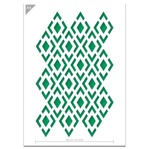 "Plastikschablone ""Pattern #2 - Checkboard"" A4"