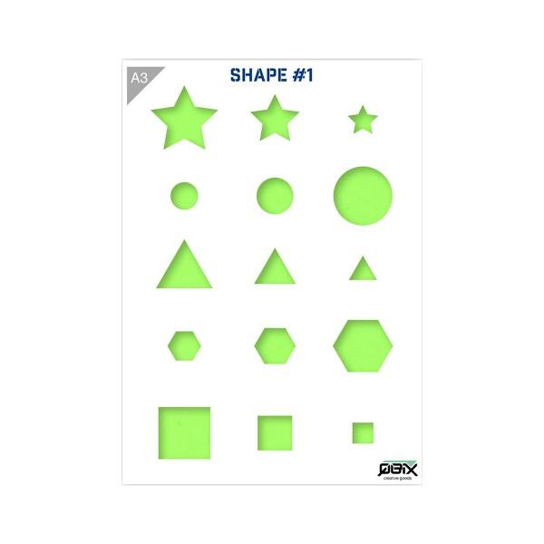 "Plastikschablone ""Shapes #1 - Primary Shapes"" A3"