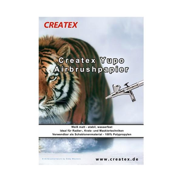 """Createx """"Yupo Airbrushpapier"""" (32cm x 22,5cm) - Einzelbogen"""