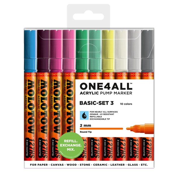 "Molotow ""127HS"" One4all 10er Marker Set (2mm) - Basic 3"