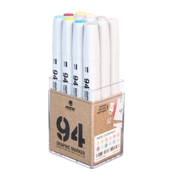 """MTN """"94 Graphic Marker 12er Set - Pastel"""""""