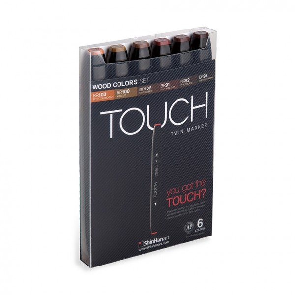 "Touch ""Twin 6er Set - Wood Colors"""