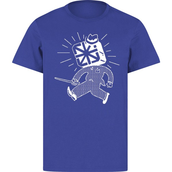 "The Seventh letter T-Shirt ""Dude"" Blue"