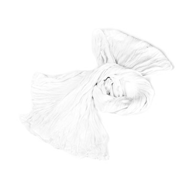 """Wrinkle Scarf Sommerschal"" - White"