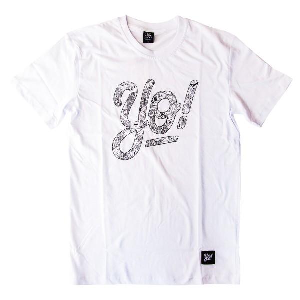 """Yo! T-Shirt """"Wenu Design"""" - White"""