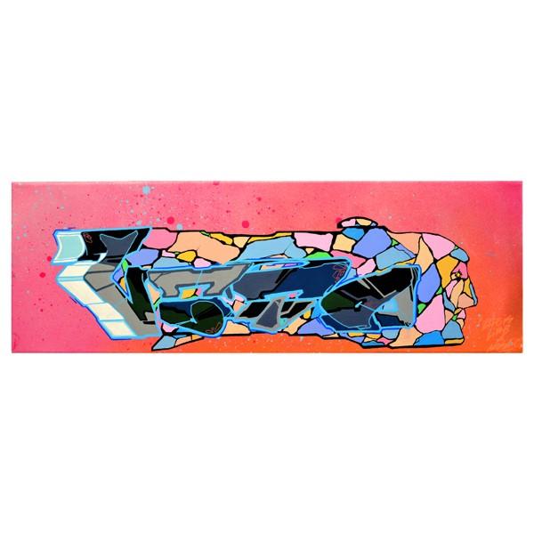 """""""Vato - Mosaic Face (Original)"""" 20x60cm"""