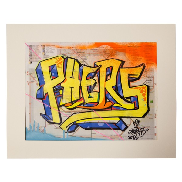 """Phers - Skizze II (Original & in Passepartout)"" 40x50cm"