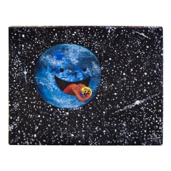 """Der Schmierfink - Moon I (Original)"" 8x8cm"