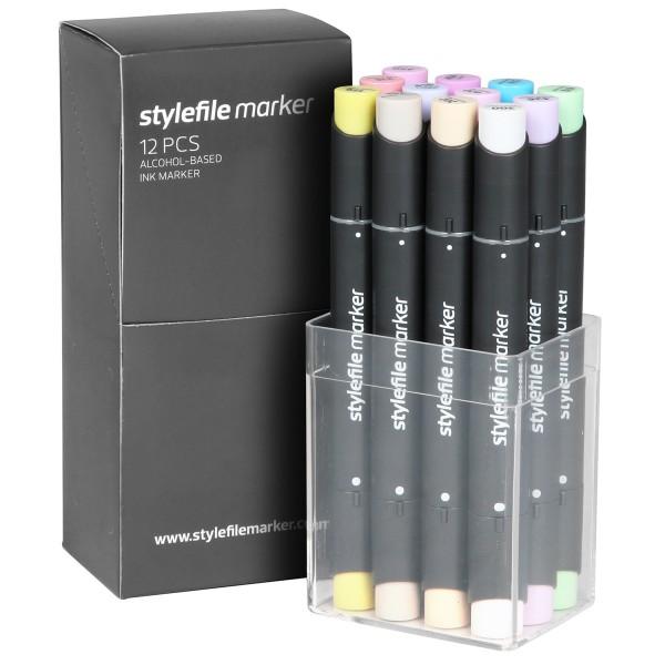 "Stylefile Twin Marker ""12er Set"" Pastel"