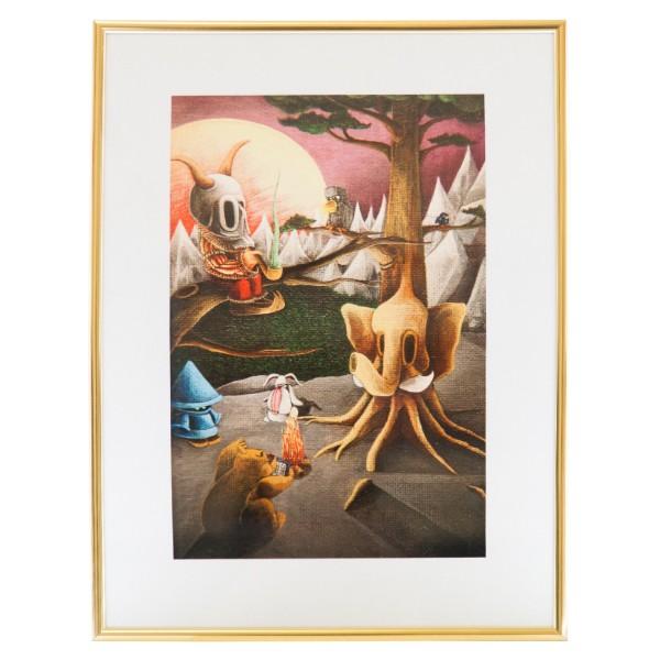 """Der Schmierfink - Fireplace Fairytales (Gerahmter Kunstdruck)"" 40x50cm"