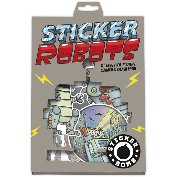"Sticker Bomb ""Robots 12er Stickerpack"""