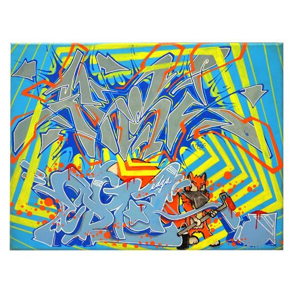 """Ahse & Edga - Funky Fox (Original)"" 30x40cm"