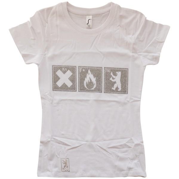 "Tasd Graffiti Design Girls T-Shirt ""The One"" White/Silver"