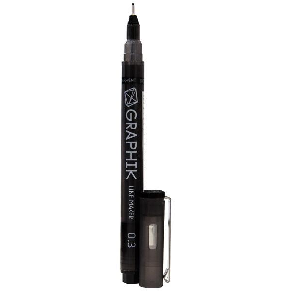 "Derwent ""Graphik Line Marker"" Black (0,3mm)"