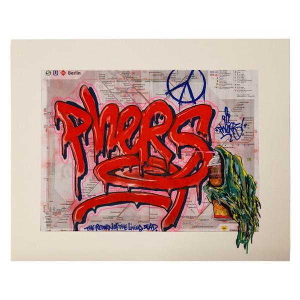 """""""Phers - Skizze IV (Original & in Passepartout)"""" 40x50cm"""