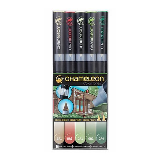 """Chameleon """"Twin 5er Set"""" - Nature Tones"""