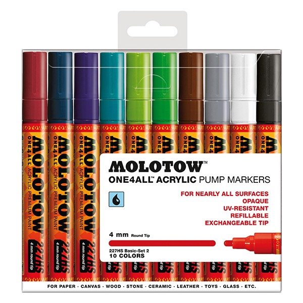 "Molotow ""227HS"" One4all 10er Marker Set (4mm) - Basic 2"