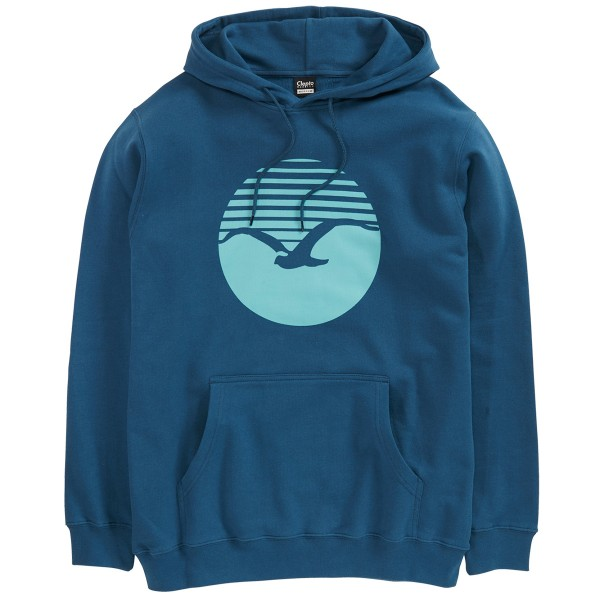 "Cleptomanicx Hoodie ""Sunrise 2"" MJ Blue"