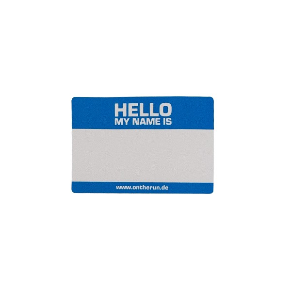 "OTR Magnet ""Hello My Name Is - Blue"" Small (13,5x9cm)"
