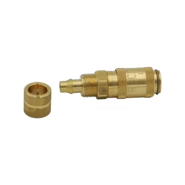 """Createx """"Schnellverschlusskupplung NW 2.7 Anschluss für 4x6 mm PVC-Luftschlauch, Messing"""""""