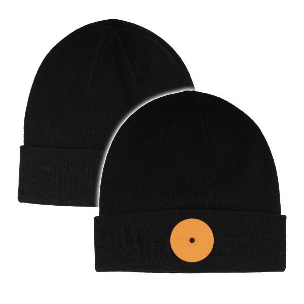 """Mr. Serious """"Fat Cap Series - Medium Fat Cap Beanie"""" Black/Orange"""