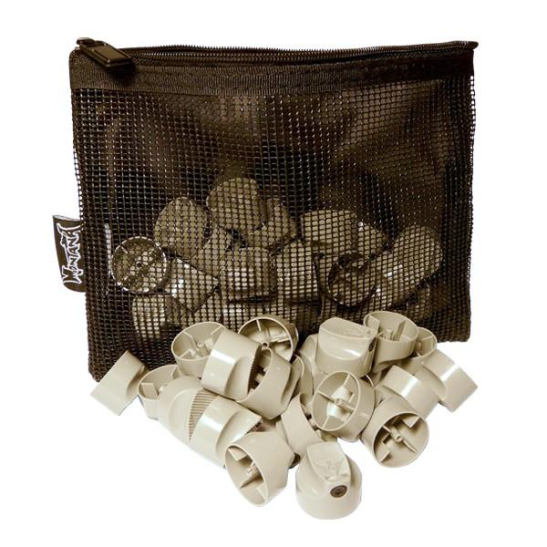 "Montana ""Outline Cap"" Grey/Black 50er Pack inkl. Utility Bag"