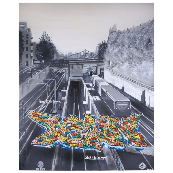 """Natur One - Berlin, deine Maler (Original)"" 80x100cm"